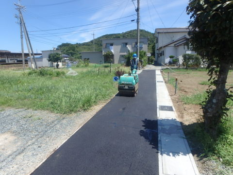三津4号線道路改良工事
