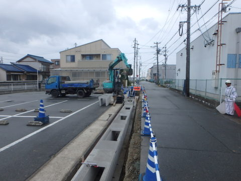 王中島6号線道路改良工事